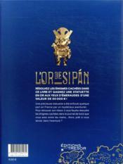 L'or de Sipán - 4ème de couverture - Format classique