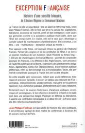 Exception française ; histoire d'une société bloquée, de l'Ancien Régime à Emmanuel Macron - 4ème de couverture - Format classique