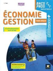 Ressources plus - economie-gestion 2de 1re tle bac pro - ed. 2020 - livre de l'eleve - Couverture - Format classique