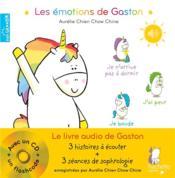 Gaston la licorne ; les émotions de Gaston ; le livre audio de Gaston - Couverture - Format classique