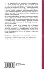 Dialogue entre psychanalyse et théorie de l'attachement - 4ème de couverture - Format classique