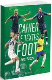 Cahier de textes foot (édition 2021/2022) - Couverture - Format classique