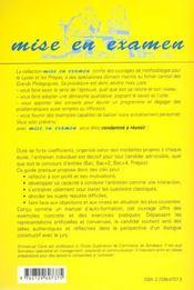 L'Entretien Individuel Aux Concours Des Ecoles De Commerce Bac/Bac+2/Bac+4/Prepas - 4ème de couverture - Format classique