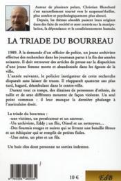 La triade du bourreau - 4ème de couverture - Format classique
