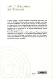 Les cisterciens en Vivarais ; Mazan, une grande abbaye t.2 - 4ème de couverture - Format classique