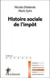 Histoire sociale de l'impôt - Couverture - Format classique