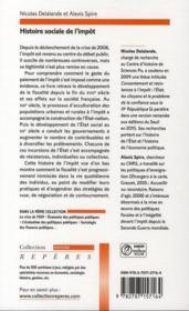 Histoire sociale de l'impôt - 4ème de couverture - Format classique