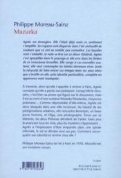 Mazurka - 4ème de couverture - Format classique