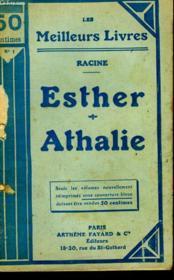 Esther Tragedie En 3 Actes (1689) Suivi De Athalie Tragedie En 5 Actes ( 1691). Collection : Les Meilleurs Livres N° 1. - Couverture - Format classique