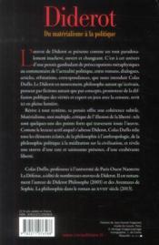 Diderot ; du matérialisme à la politique - 4ème de couverture - Format classique