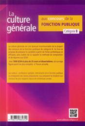 La Culture Generale Aux Concours De La Fonction Publique Categorie B