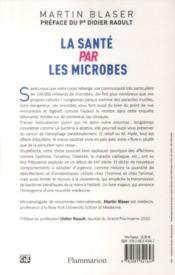 La santé par les microbes - 4ème de couverture - Format classique