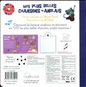 Mes plus belles chansons en anglais - 4ème de couverture - Format classique