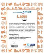 Latin ; faux-débutants-intermédiaire - 4ème de couverture - Format classique
