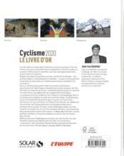 Livre d'or du cyclisme (édition 2020) - 4ème de couverture - Format classique