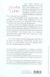 Julien Clerc - 4ème de couverture - Format classique