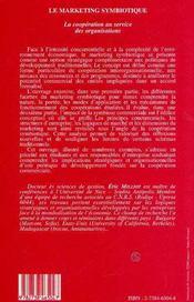 Le Marketing Symbiotique, La Cooperation Au Service Des Organisations - 4ème de couverture - Format classique