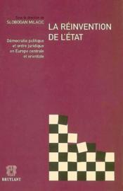 Reinvention de l'etat democratie politiq - Couverture - Format classique