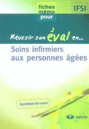 Reussir Son Eval En... ; Soins Infirmiers Aux Personnes Agées - Intérieur - Format classique