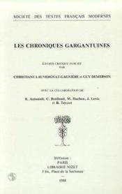 Les chroniques gargantuines - Couverture - Format classique