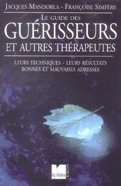 Le Guide Des Guerisseurs Et Autres Therapeutes - Intérieur - Format classique