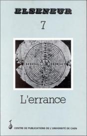 ELSENEUR N.7 ; l'errance - Couverture - Format classique
