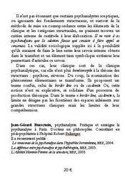 Psychose Et Structure ; Le Cas Schreber - 4ème de couverture - Format classique