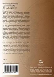 Le robinson de la banquise - 4ème de couverture - Format classique