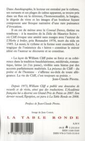 Autobiographie ; Conrad Detrez - 4ème de couverture - Format classique