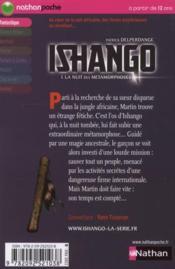 Ishango t.1 l ; la nuit des métamorphoses - 4ème de couverture - Format classique