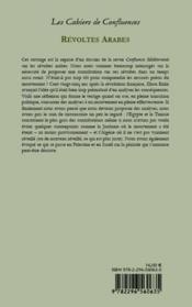 Révoltes arabes ; premiers regards - 4ème de couverture - Format classique