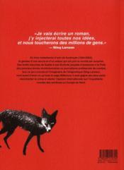 Stieg Larsson avant Millénium - 4ème de couverture - Format classique