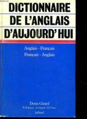 Dictionnaire De L Anglais D Aujourd Hui. - Couverture - Format classique