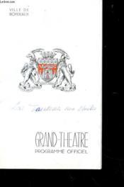 Programme - Grand-Theatre De Bordeaux - Programme Officiel - Couverture - Format classique