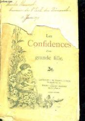 Les Confidences D'Une Grande Fille. - Couverture - Format classique