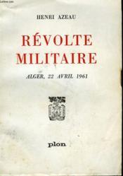 Revolte Militaire - Couverture - Format classique