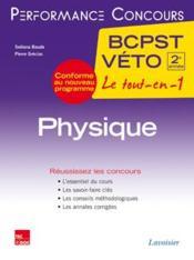 PERFORMANCE CONCOURS ; physique ; 2e année BCPST-véto - Couverture - Format classique