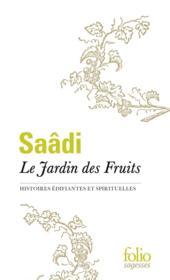 Le jardin des fruits (histoires édifiantes et spirituelles) - Couverture - Format classique