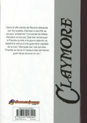 Claymore T.26 ; la lame funèbre - 4ème de couverture - Format classique