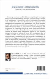 Généalogie de la mondialisation ; analyse de la crise identitaire actuelle - Couverture - Format classique