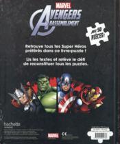 Avengers Rassemblement ; mon livre puzzle avec 50 pièces - 4ème de couverture - Format classique