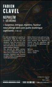 Nephilim t.1 ; les dechus - 4ème de couverture - Format classique