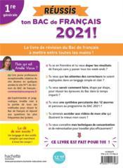 Réussis ton bac de français ; 1re (édition 2021) - 4ème de couverture - Format classique