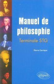Manuel de philosophie ; terminale stg - Intérieur - Format classique