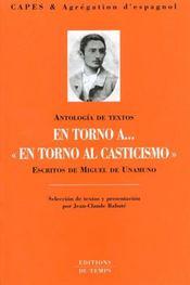 Antologia De Textos ; Miguel De Unamuno - Intérieur - Format classique
