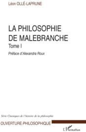 La philosophie de Malebranche t.1 - Couverture - Format classique
