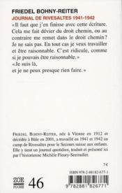Journal de Rivesaltes 1941-1942 - 4ème de couverture - Format classique