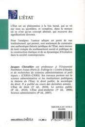 L'Etat (2e édition) - 4ème de couverture - Format classique