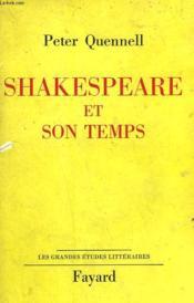 Shakespeare Et Son Temps. - Couverture - Format classique