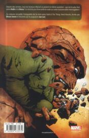 Hulk T.5 ; Hulk et la Chose ; coups durs - 4ème de couverture - Format classique